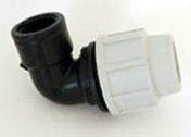 Coude polypropylène pour tuyau polyéthylène Plasson diam.20mm sortie femelle diam.20x27mm en vrac 1 pièce - Arrosages enterrés - Aménagements extérieurs - GEDIMAT