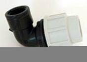 Coude polypropylène pour tuyau polyéthylène Plasson diam.25mm sortie femelle diam.20x27mm en vrac 1 pièce - Arrosages enterrés - Aménagements extérieurs - GEDIMAT