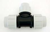 Té polypropylène réduit pour tuyau polyéthylène Plasson diam.40mm réduit diam.32mm en vrac 1 pièce - Arrosages enterrés - Aménagements extérieurs - GEDIMAT
