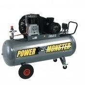 Compresseur POWER MONSTER professionnel 3HP courroie bi cylindre cuve de 150L - Compresseurs - Outillage - GEDIMAT