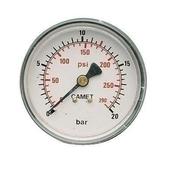 """Manomètre diamètre 50mm 1/8"""" M 1/4"""" M - Compresseurs - Outillage - GEDIMAT"""