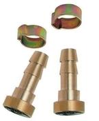 Baïonnette cannelée pour tuyau 6x11mm et colliers 2 pièces - Compresseurs - Outillage - GEDIMAT