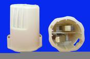 Douille-testeur électrique culot B22 plastique sachet de 4 pièces - Boîte d'encastrement 1 poste pour cloison creuse diam.67mm prof.40mm coloris gris - Gedimat.fr