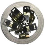 Collier de serrage à bande ajourée acier larg.8mm long.10m sur carte - Coude laiton fer/cuivre 90GCU femelle diam.20x27mm à souder diam.16mm - Gedimat.fr