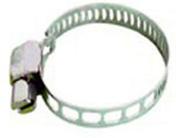 Collier de serrage à bande ajourée acier inoxydable larg.14mm long.47 à 67mm sur carte de 2 pièces - Tuyaux d'arrosage - Plein air & Loisirs - GEDIMAT