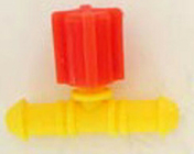 Vanne réglable pour tube conducteur diam.4mm sous coque de 10 pièces - Arrosages goutte à goutte - Aménagements extérieurs - GEDIMAT