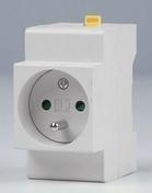 Prise de courant modulaire 2 pôles + terre 16A 220V - Modulaires - Boîtes - Electricité & Eclairage - GEDIMAT