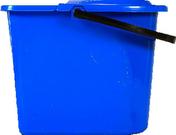 Seau avec essoreuse polypropylène bleu 10 litres - Ensemble mécanisme de chasse à tirette et robinet servo-valve - Gedimat.fr