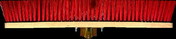 Balai de cantonnier fibres PVC vertes semelle bois 60cm - Double rive 3/4 pureau pour tuiles DC12 coloris flammé languedoc - Gedimat.fr