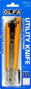 Cutter à lame rétractable larg.18mm Olfa EXL coloris jaune sous blister de 1 pièce - Pelle manche bois long.27cm - Gedimat.fr