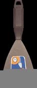 Couteau de peintre acier manche polypropylène noir 10cm - Cutter corps métallique lame 18mm - Gedimat.fr