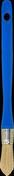 Brosse à rechampir mélange soies fibres synthétiques spécial acryl manche polypropylène n°3/0 diam.15mm - Tuile de rive gauche universelle PLEIN CIEL coloris brun - Gedimat.fr
