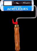Rouleau professionnel pour murs et plafonds spécial acrylique diam.6cm larg.18cm - Tuile châtière CANAL coloris littoral flammé - Gedimat.fr