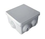 Boite de dérivation électrique étanche carrée étanchéité classe II diam.80x80mm haut.45mm coloris gris en lot de 3 pièces - Panneau de Particule Surfacé Mélaminé (PPSM) ép.19mm larg.2,07m long.2,80m Blanc Yukon finition Satiné mat - Gedimat.fr