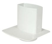 Pied de chute pour tube de gouttière NICOLL OVATION section 90x56mm coloris blanc - Bloc béton de coffrage STEPOC 15 ép.15cm long.50cm haut.20cm - Gedimat.fr