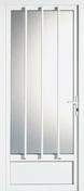 Porte d'entrée PVC Blanc ESTELLE Gauche Poussant Haut.2,15m larg.90cm - Rondelle pour pose de vis à plaque de plâtre acier zingué diam.5x25mm en vybac de 96 pièces - Gedimat.fr