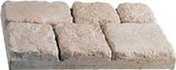 Pavé BASTIDE en pierre reconstituée ép.5,5cm larg.30cm long.45cm coloris Gironde - Fronton de rive ronde pour faîtière cylindrique de 40cm TERREAL coloris Pays d'Oce - Gedimat.fr