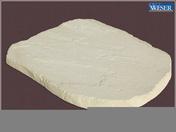 Pas japonais pierre reconstituée FLORAC dim.45x35cm ép.3,5cm coloris champagne - Pas japonais - Aménagements extérieurs - GEDIMAT