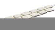 Pavé en pierre reconstituée CHINON en bande de 6 pavés ép.2cm larg.12cm long.1,02m coloris gris - Tuile en terre cuite LOSANGEE coloris brun rustique - Gedimat.fr
