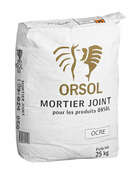 Mortier joint ORSOL coloris beige - Margelle piscine courbe AQUITAINE long.50cm larg.33cm rayon.6,1cm coloris pierre du lot - Gedimat.fr