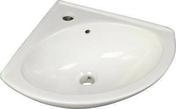 Lave-mains d'angle en porcelaine dim.38x38cm blanc - Sol stratifié ECO CLICK ép.7 mm larg.19,4 cm long.1,29 m chêne blanchi - Gedimat.fr