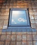 Raccord de remplacement pour fenêtre VELUX sur tuiles EW MK04 type 0000 haut.98cm larg.78cm - Carrelage pour sol en grès cérame émaillé CHIC larg.31,6cm long.63,5cm coloris zinc - Gedimat.fr
