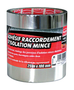 Adhésif raccordement isolation mince larg.100mm long.25m - Accessoires isolation - Isolation & Cloison - GEDIMAT