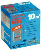 Clips pour lambris n�3 blanc boite de 100 pi�ces - Profil PVC raccord clipsable pour lambris �p.8 � 10mm long.2,60m blanc - Gedimat.fr