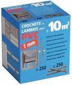 Clips pour lambris n°1 en PVC boite de 250 pièces - Lame de lambris en PVC blanc résistante au UV - Gedimat.fr