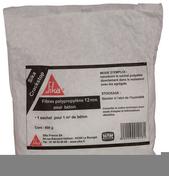 Fibre pour b�ton CRAKSTOP 12mm dose de 600g - Hydrofuge en poudre SUPER SIKALITE dose de 1kg - Gedimat.fr