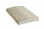 Chapeau de mur avec goutte d'eau en pierre reconstitu�e RENAISSANCE larg.35cm long.50cm coloris pierre - Piliers - Murets - Am�nagements ext�rieurs - GEDIMAT