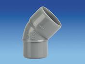 Coude d'évacuation en PVC à 45° mâle-femelle diam.32mm - Enduit monocouche lourd grain moyen MONODECOR GM sac de 30kg coloris O223 - Gedimat.fr