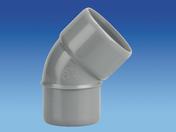 Coude d'évacuation en PVC à 45° mâle-femelle diam.50mm - Laque brillante glycéro intérieur/extérieur 2,5L brun - Gedimat.fr