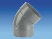 Coude d'évacuation en PVC à 45° mâle-femelle diam.160mm - Mitigeur douche LETO en laiton finition chromée - Gedimat.fr