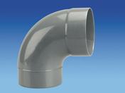 Coude d'évacuation en PVC à 87°30 mâle-femelle diam.160mm - Mitigeur douche LETO en laiton finition chromée - Gedimat.fr