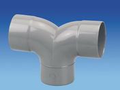Coude d'évacuation double en PVC à 87°30 mâle-femelle diam.100mm gris - Té cuivre à souder réduit diam.14x12x14mm 1 pièce - Gedimat.fr