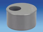 Tampon de réduction en PVC mâle-femelle diam.100/40mm - Rive individuelle gauche à recouvrement pureau variable MARSEILLE coloris brun - Gedimat.fr