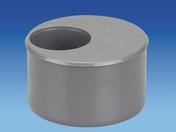 Tampon de réduction en PVC mâle-femelle diam.100/50mm - Tuile courte rectangulaire pour tuiles plates 16x38 coloris lauze - Gedimat.fr