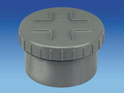 Tampon de visite en PVC avec bouchon diam.160mm - Manchon à butée en PVC femelle-femelle diam.160mm - Gedimat.fr