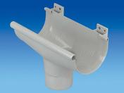 Naissance centrale à dilatation pour gouttière PVC de 25 coloris gris clair - Coude PVC d'évacuation d'eau usée NICOLL mâle-femelle diam.250mm coloris gris angle 45° - Gedimat.fr