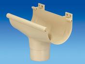 Naissance centrale à dilatation pour gouttière PVC de 25 coloris sable - Kit de fixation anodisé naturel - Gedimat.fr