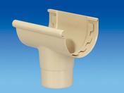 Naissance centrale à coller pour gouttière PVC de 25 coloris sable - Coude PVC pour tube de descente de gouttière diam.80mm angle 87°30 femelle-femelle coloris sable - Gedimat.fr