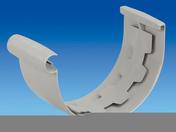 Jonction à coller pour gouttière PVC de 25 coloris gris clair - Poutre VULCAIN section 12x45 cm long.3,50m pour portée utile de 2,6 à 3,10m - Gedimat.fr