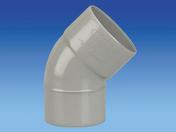 Coude PVC pour tube de descente de gouttière diam.80mm angle 45° mâle-femelle coloris gris clair - Arêtier Normand coloris rustique nuage - Gedimat.fr