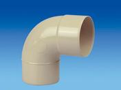 Coude PVC pour tube de descente de gouttière diam.80mm angle 87°30 mâle-femelle coloris sable - Coude PVC assainissementmF 90° diam.160mm type SDR 34 - Gedimat.fr