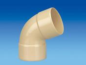 Coude PVC pour tube de descente de gouttière diam.80mm angle 67°30 femelle-femelle coloris sable - Coude laiton brut mâle à visser réf.92 diam.15x21mm 1 pièce en vrac avec lien - Gedimat.fr