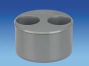 Tampon de réduction en PVC mâle-femelle diam.93/40/40mm - Rive individuelle droite PLATE 17x27 Phalempin coloris vieilli - Gedimat.fr