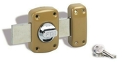 Verrou MIRAGE à bouton et cylindre 30mm époxy bronze 3 clés acier - Serrures - Verrous - Cadenas - Quincaillerie - GEDIMAT