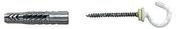 Cheville universelle nylon UX-RK diam.6mm long.35mm 4 pièces avec crochet rond - Panneau polystyrène BD 30 UNIMAT SOL SUPRA ép.30mm larg.1,00m long.1,20m - Gedimat.fr