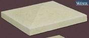 Chapeau pour pilier pierre reconstituée CHEVERNY 40x40cm haut.8cm coloris champagne - Poutre VULCAIN larg.12cm haut.30cm long.4,50m pour portée utile de 3.6 à 4.1m - Gedimat.fr
